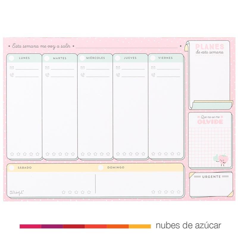 Calendario Mensual Mr Wonderful.Planificador Mr Wonderful Para Semanas Geniales
