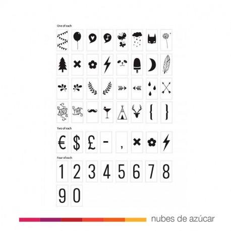 letter set numbers & symbols