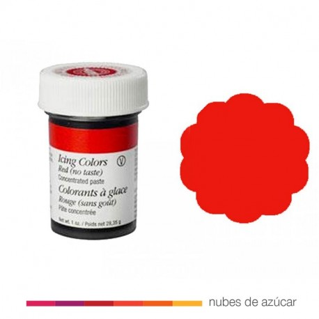 Wilton colorante en gel Rojo sin sabor