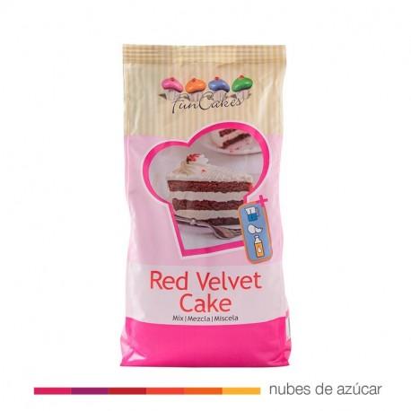Funcakes Mezcla para Bizcocho Red Velvet 1 kg 3826
