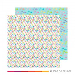 Papel doble cara 5107 Rainbow bubbles