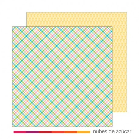 Papel doble cara 5266 Pastel plaid