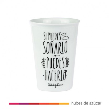 Taza take away si puedes soñarlo mr wonderful