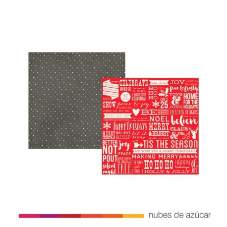 Papel doble cara  4807 Good cheer