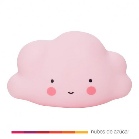 Lamparita quitamiedos nube rosa