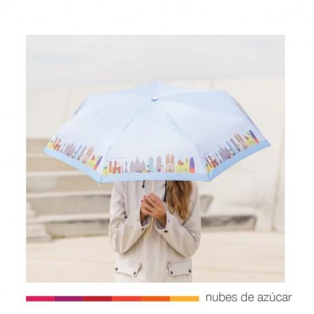 Paraguas plegable lovely streets Barcelona
