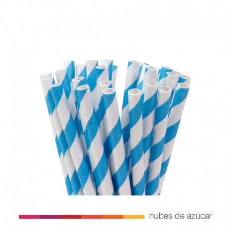 Cañitas de papel color Azul House of Marie