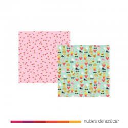 Papel para decorar doble cara happy emoji Love