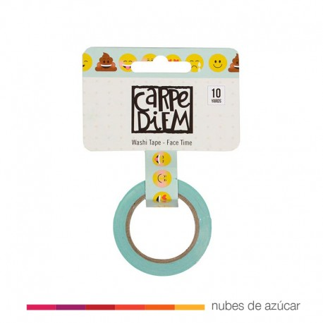 Washi tape Emoticonos Face Time (8029)