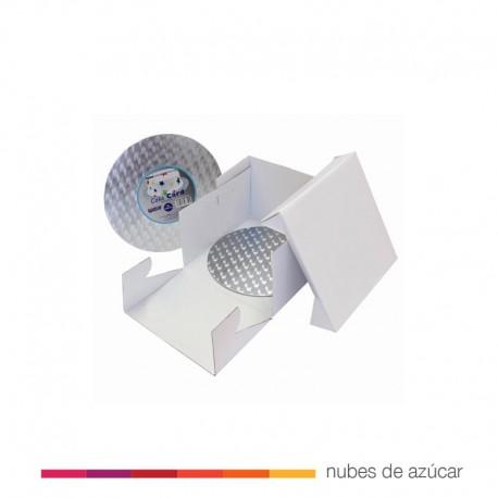 Caja para Tartas y Bandeja redonda 30x30x15