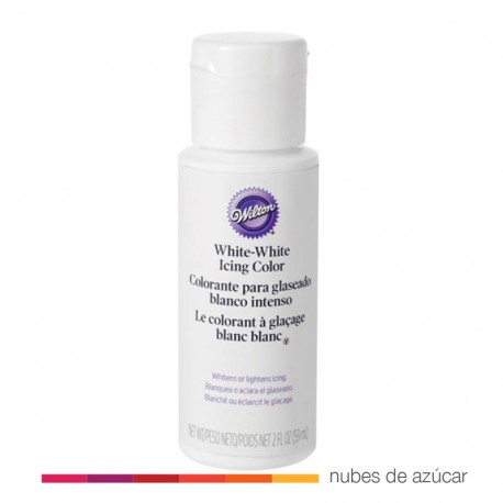 Wilton Colorante para glaseado Blanco Intenso