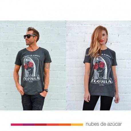 """Camiseta Unisex """"Ante la duda Tequila"""" Aire Retro"""