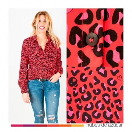 Camisa total print Leopardo Aire Retro