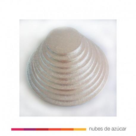 Base para tartas redonda de 33 cm plateada