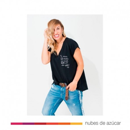 Camiseta Chica Camiseta Básica Negra T.S