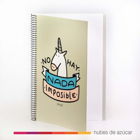 Libreta A5 No hay nada imposible Mr. Wonderful