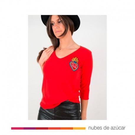 Camiseta Chica Pasión aire retro