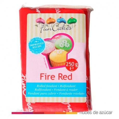 Fondant Funcakes Rojo Fuego 250gr fc97350