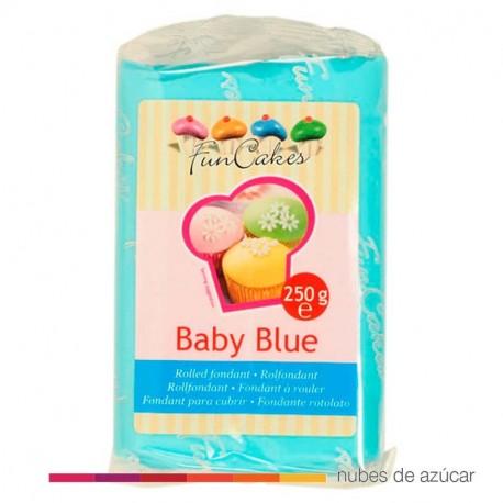 Fondant Funcakes Azul Bebé 250 gr fc97950