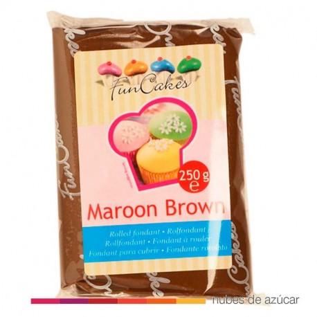 Fondant Funcakes Marrón 250 gr fc97650