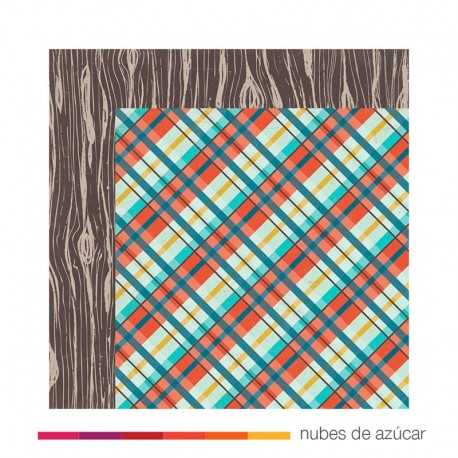 Papel para decorar Happy camper 30x30
