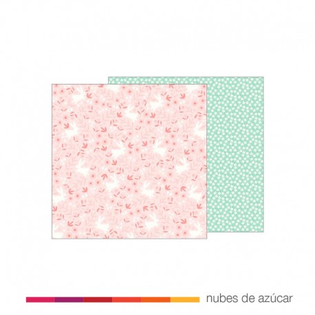 Papel para decorar Baby girl Posies 30x30
