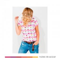 Camiseta chica Hello Kitty Vieja Escuela T.M