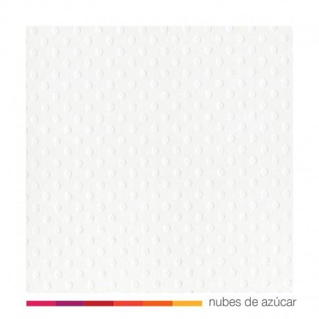 Papel para decorar texturizado Dots white 30x30