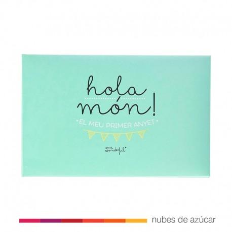 Álbum per a bebé Hola món! El meu primer any