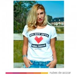 Camiseta chica No apta blanca Aire Retro