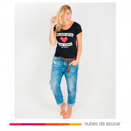 Camiseta chica No apta negro Aire Retro