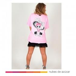 Camiseta Rosa La Suerte Oversize Aire Retro
