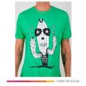 Camiseta unisex Cactus verde Aire Retro