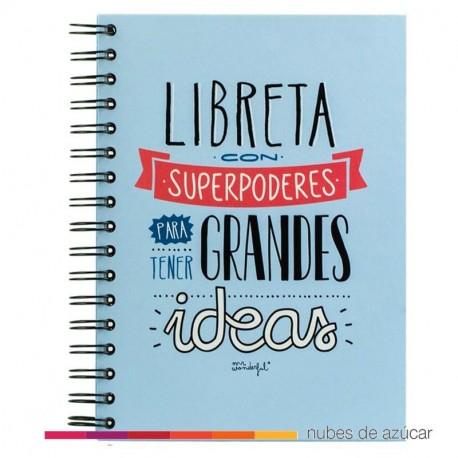 Libreta con superpoderes grandes ideas Mr Wonderfu