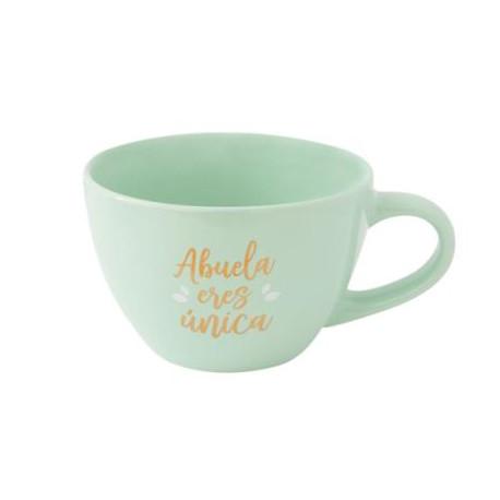 Taza y plato- Abuela eres única