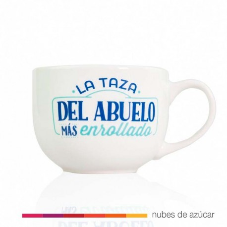 Taza + plato para abuelos enrrollados Mr wonderful