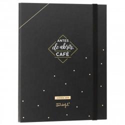 Agenda negra con anillas 18-19 Antes de abrir café
