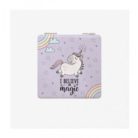 Espejito de bolsillo unicornio