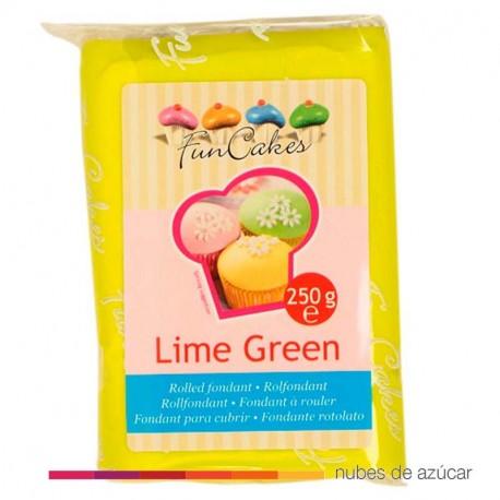 Fondant Funcakes Verde Lima 250 gr fc97800
