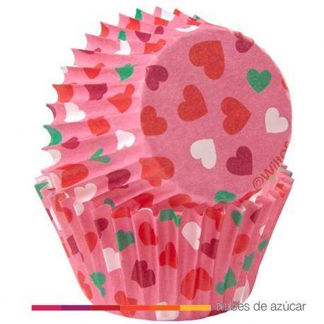 Cápsula mini cupcakes amor. 100 un (415-2047)