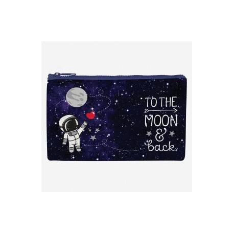 Bolsa cremallera Hasta la luna