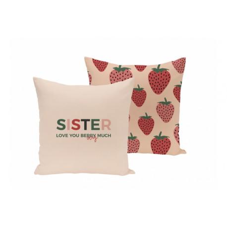 Funda de cojín Sister Love You Berry Much