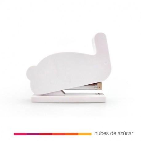 Grapadora conejito blanco