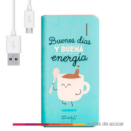 Power bank buenos dias y buena energia