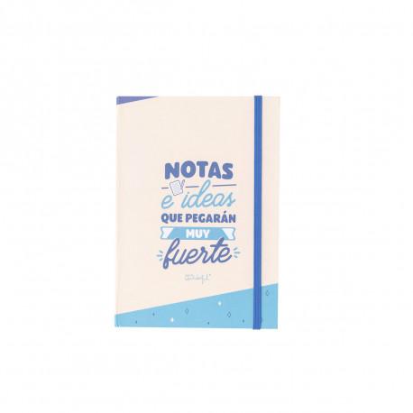 Libreta con notas adhesivas- Notas e ideas que..
