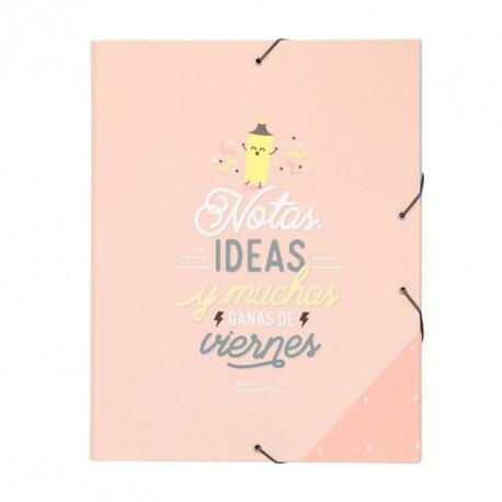 Carpeta separadora Notas, ideas y muchas ganas