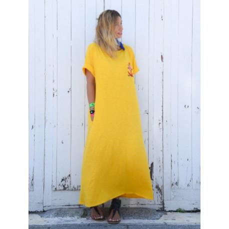 Vestido Alma Marinera mostaza  T.S/M