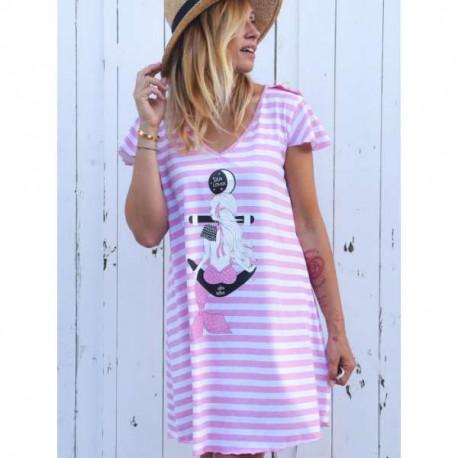 Vestido Sea Lover rosa T.S