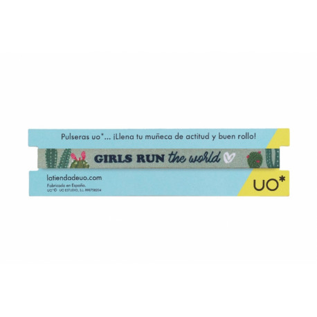 Pulsera de tela Girls run the world