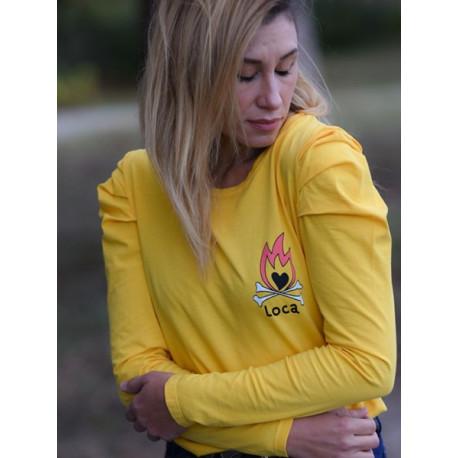 Camiseta Locura amarilla T.XS
